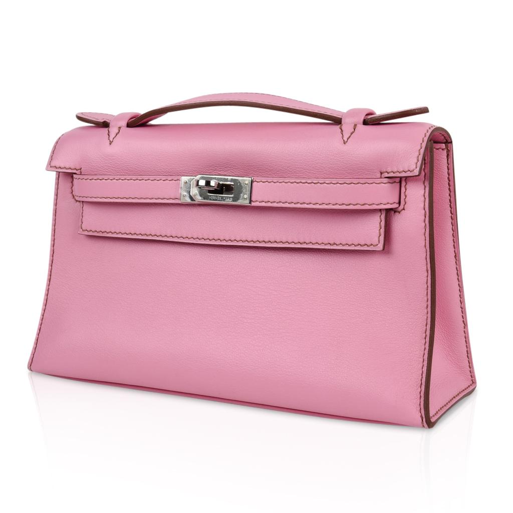 New Style Kelly Pochette Coveted 5p Pink Swift Palladium